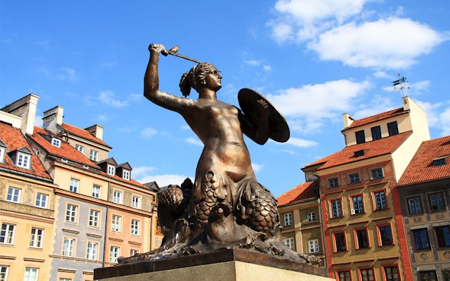 華沙美人魚雕像 Warsaw Mermaid Statue